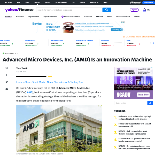 Advanced Micro Devices, Inc. (AMD) Is an Innovation Machine