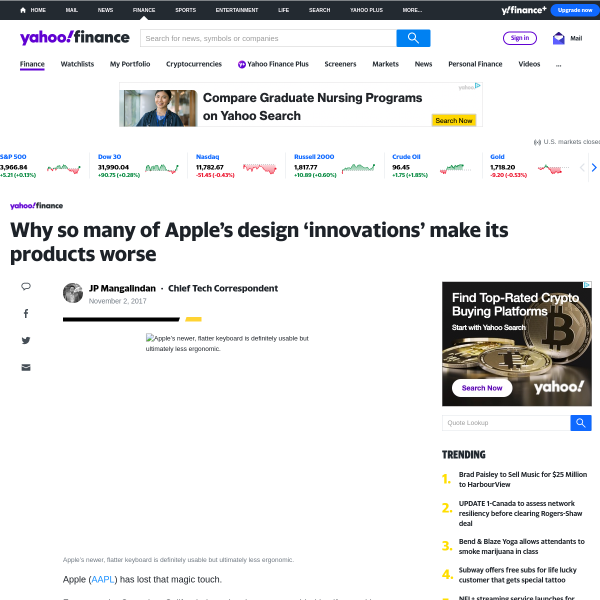Why so many of Apple's design 'innovations' make its products worse