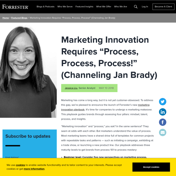 Marketing Innovation Requires