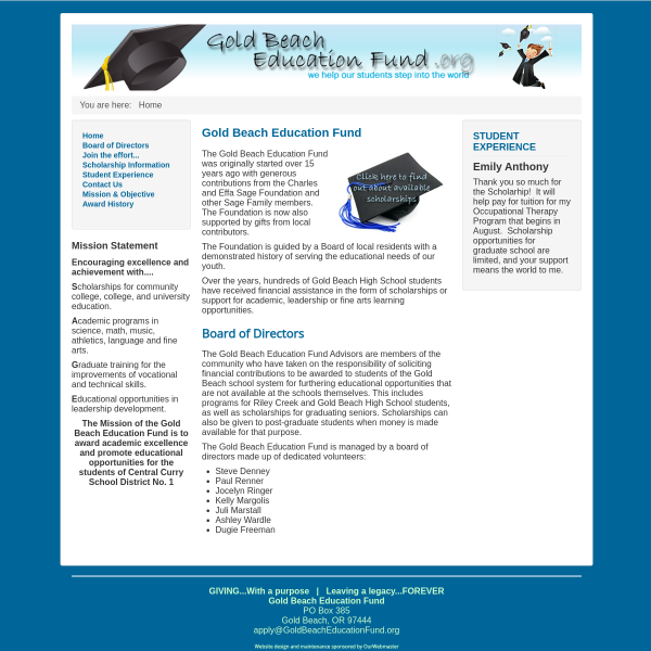 Gold Beach Educational Fund