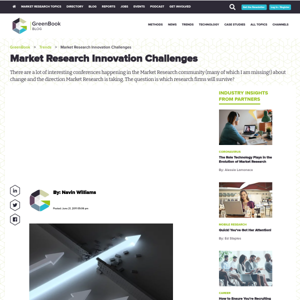 Market Research Innovation Challenges