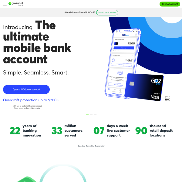 Green Dot - Online Banking, Prepaid Debit Cards, Secured Credit Card screenshot