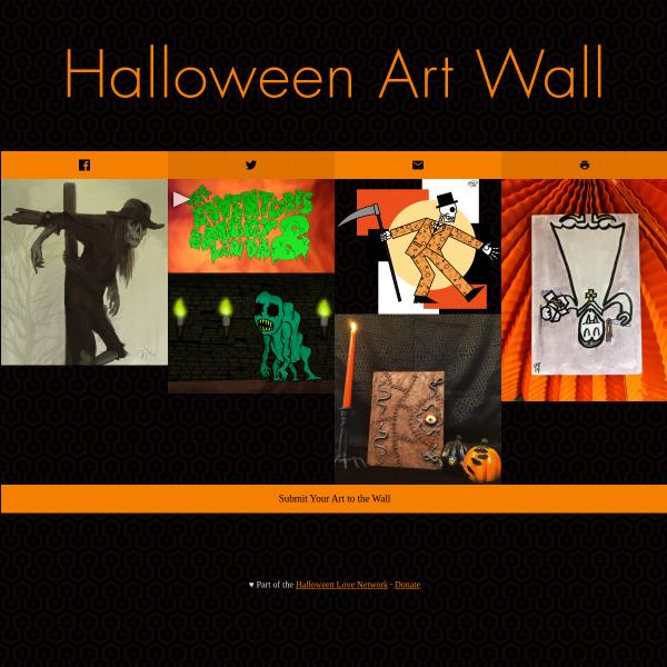 Halloween Art Wall