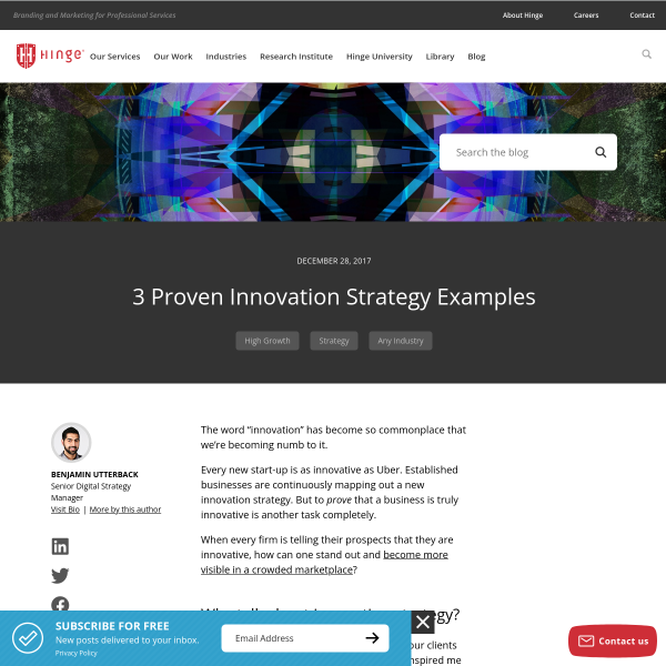 3 Proven Innovation Strategy Examples - Hinge Marketing