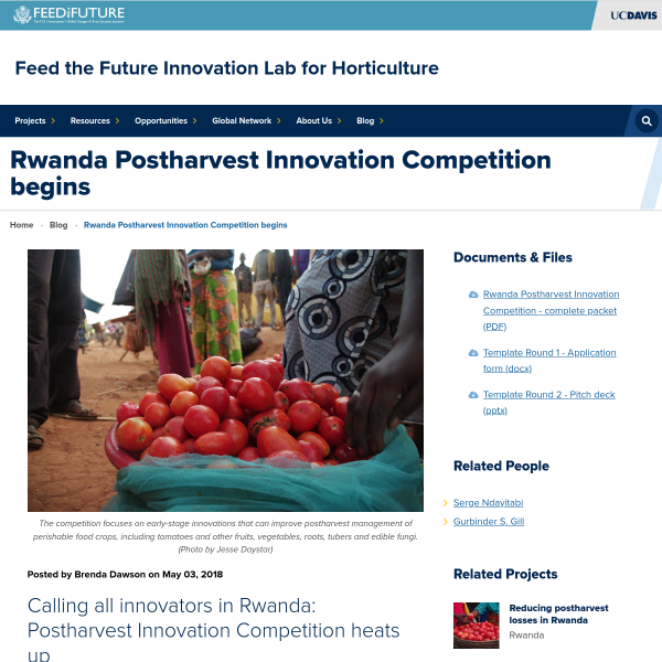 Rwanda Postharvest Innovation Competition begins