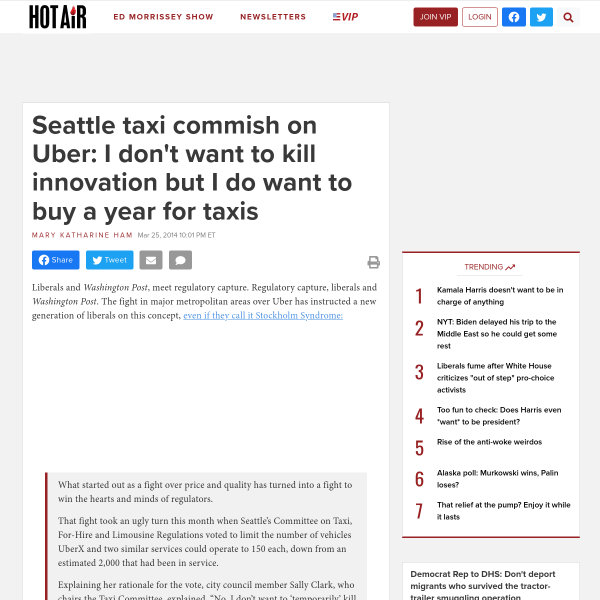 Seattle taxi commish on Uber: I don't want to kill innovation but I do want to buy a year for taxis