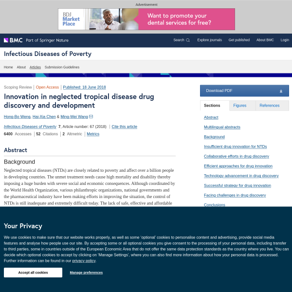 Innovation in neglected tropical disease drug discovery and development