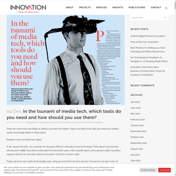 In the tsunami of media tech, which tools do you need and how should you use them? - Innovation