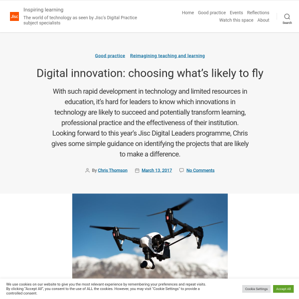 Digital innovation: choosing what's likely to fly - Inspiring learning
