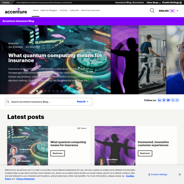 Efma-Accenture Innovation in Insurance Awards 2017 celebrates the best in innovation - Accenture Insurance Blog