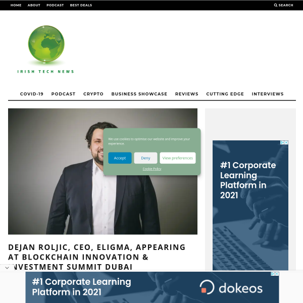 Dejan Roljic, CEO, Eligma, appearing at Blockchain Innovation & Investment Summit Dubai