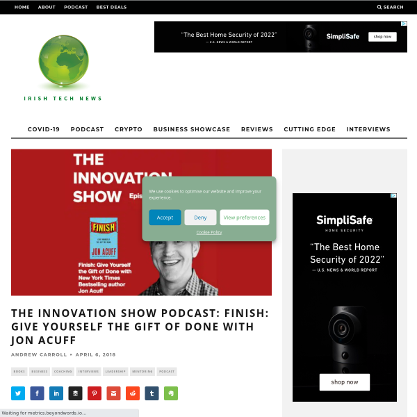 The Innovation Show Podcast: Finish: Give yourself the gift of done with Jon Acuff