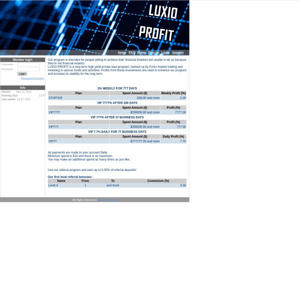 luxioprofit.com screen