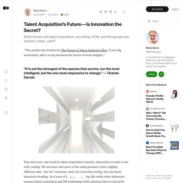Talent Acquisition's Future — Is Innovation the Secret?