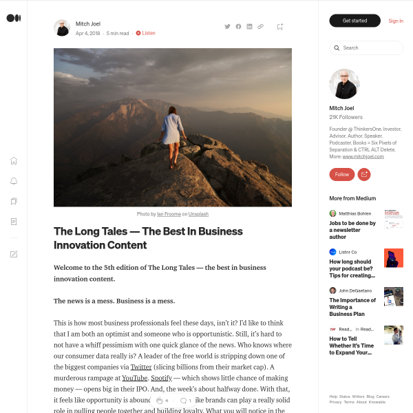 The Long Tales — The Best In Business Innovation Content