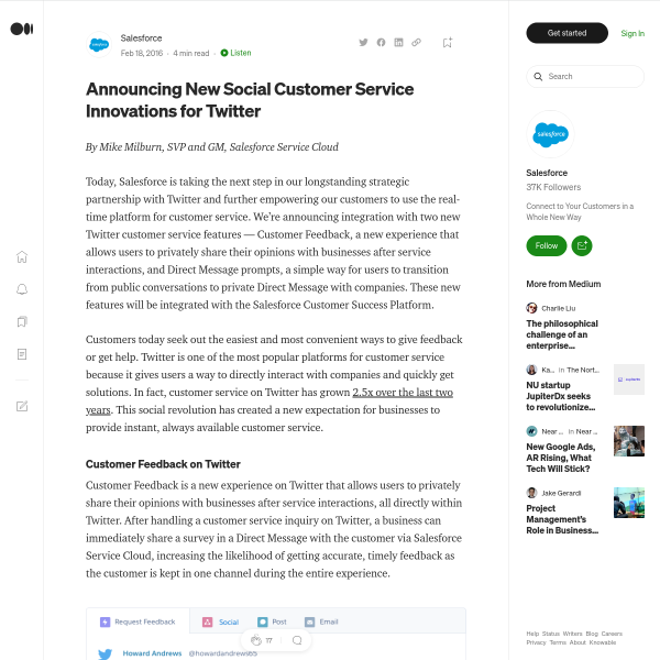 Announcing New Social Customer Service Innovations for Twitter