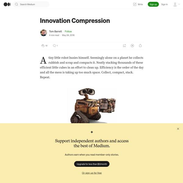 Innovation Compression – Tom Barrett – Medium
