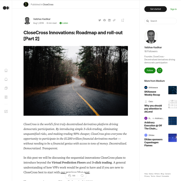 CloseCross Innovations: Roadmap and roll-out [Part 2]