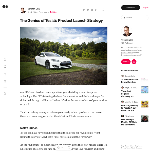 The Genius of Tesla's Product Launch Strategy – Delivering Innovation – Medium