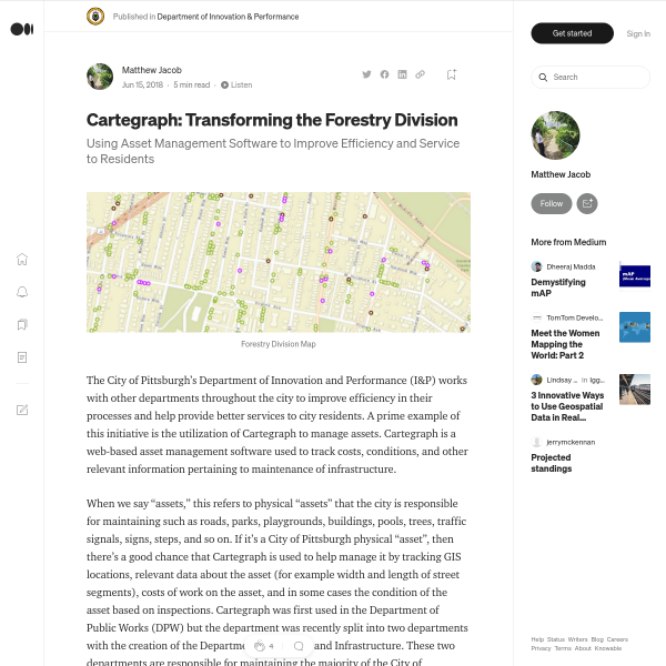 Cartegraph: Transforming the Forestry Division – Department of Innovation & Performance – Medium