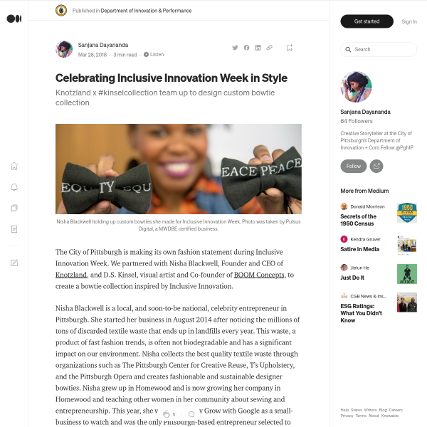 Celebrating Inclusive Innovation Week in Style – Department of Innovation & Performance – Medium