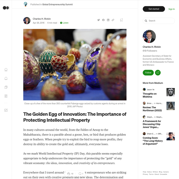 The Golden Egg of Innovation: The Importance of Protecting Intellectual Property