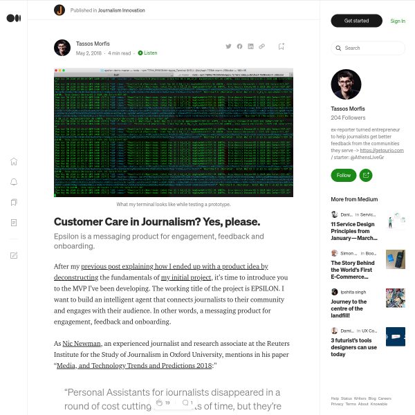 Customer Care in Journalism? Yes, please. – Journalism Innovation – Medium