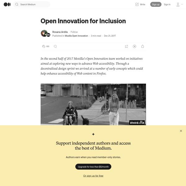 Open Innovation for Inclusion – Mozilla Open Innovation – Medium