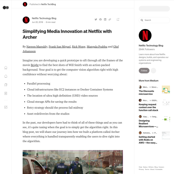 Simplifying Media Innovation at Netflix with Archer