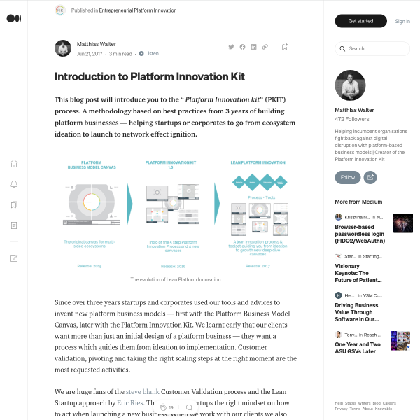 Introduction to Lean Platform Innovation – Platform Innovation – Medium