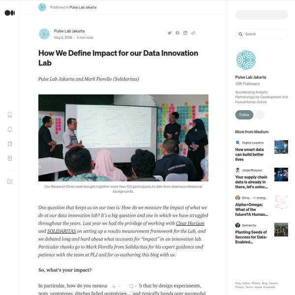 How We Define Impact for our Data Innovation Lab – Pulse Lab Jakarta – Medium
