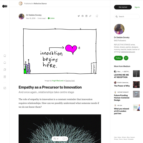 Empathy as a Precursor to Innovation – Reflective Stance – Medium