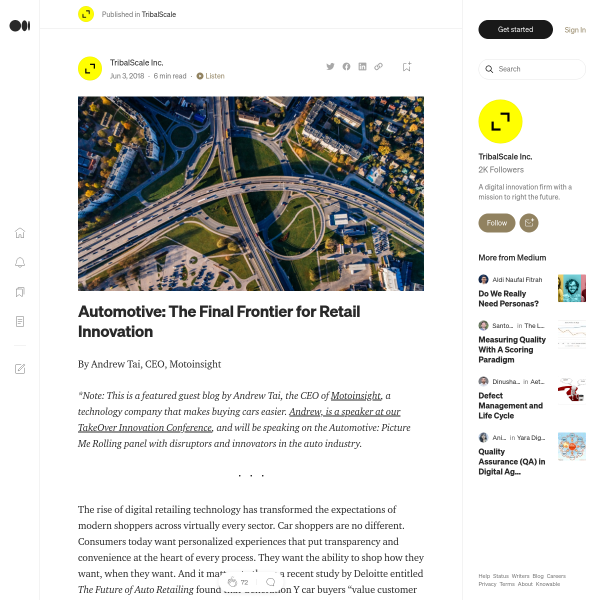 Automotive: The Final Frontier for Retail Innovation