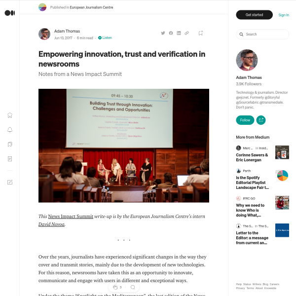 Empowering innovation, trust and verification in newsrooms