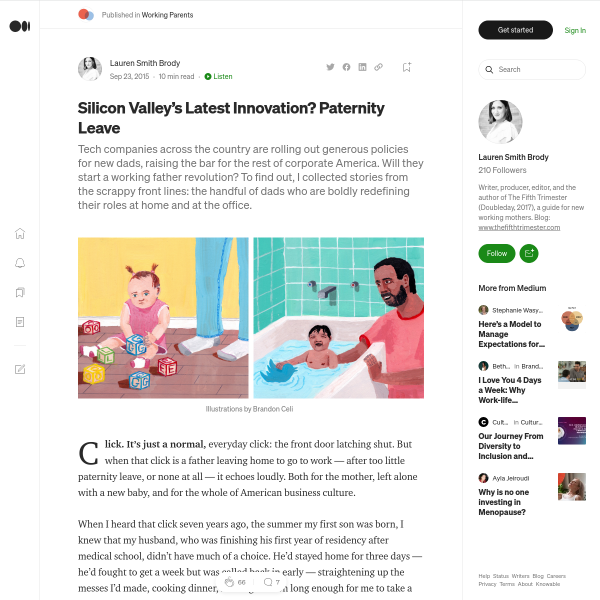 Silicon Valley's Latest Innovation? Paternity Leave