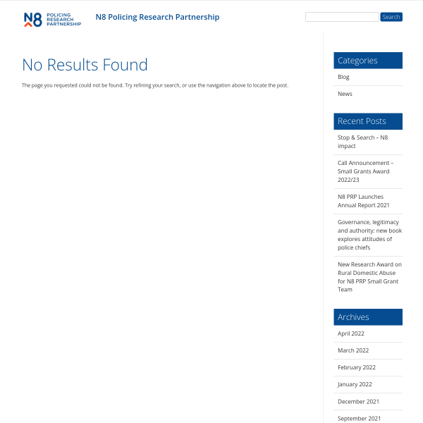 N8 PRP Policing Innovation Forum - Early Intervention Policing - N8 Policing Research Partnership