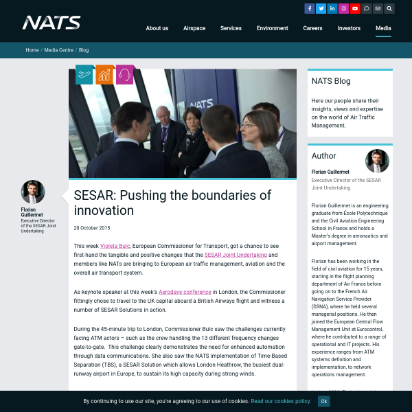 SESAR: Pushing the boundaries of innovation - NATS Blog