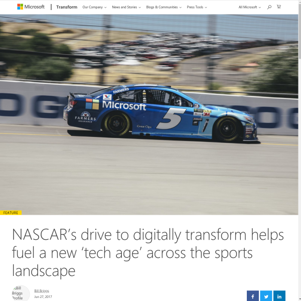 NASCAR innovation fueling new 'tech age' in sports