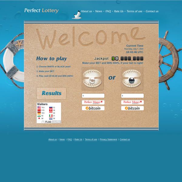 perfectlottery.com screen