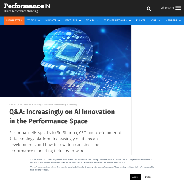 Q&A: Increasingly on AI Innovation in the Performance Space