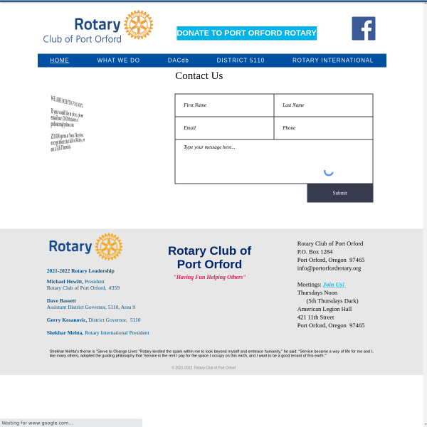 Rotary Club of Port Orford