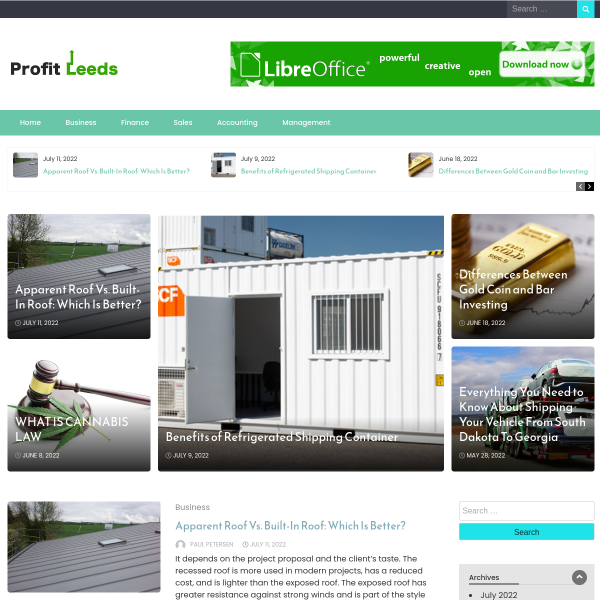 profitleeds.com screen