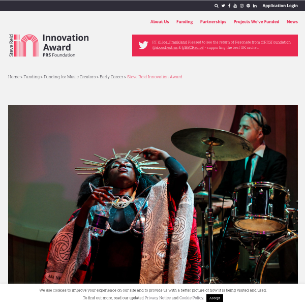 Steve Reid Innovation Award - PRS for Music Foundation