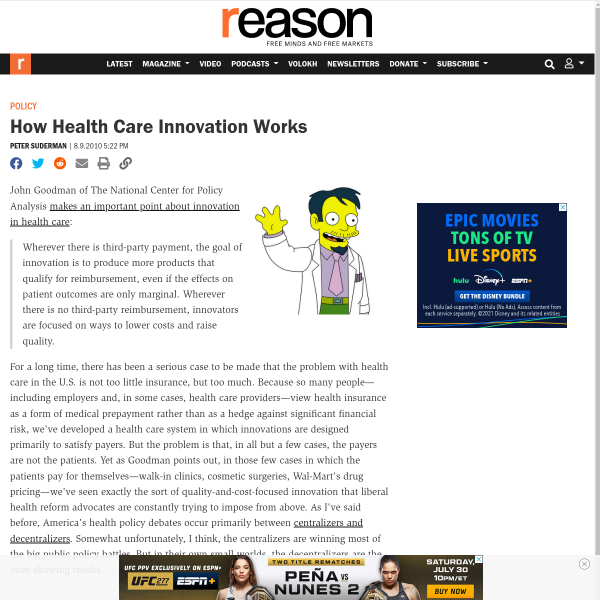 How Health Care Innovation Works