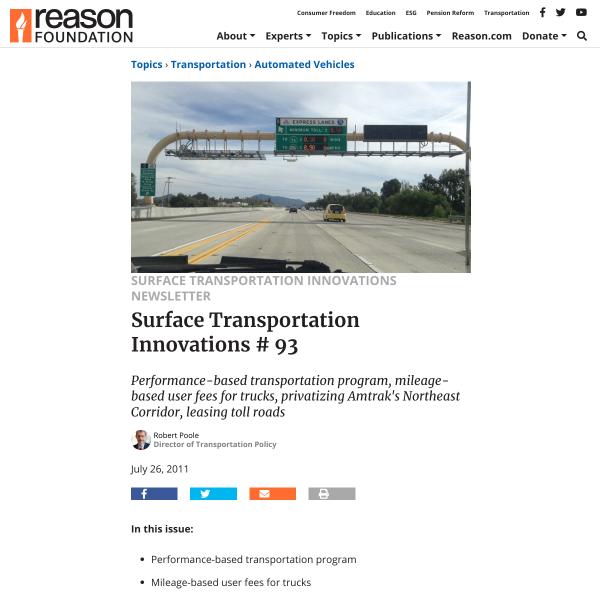 Surface Transportation Innovations # 93