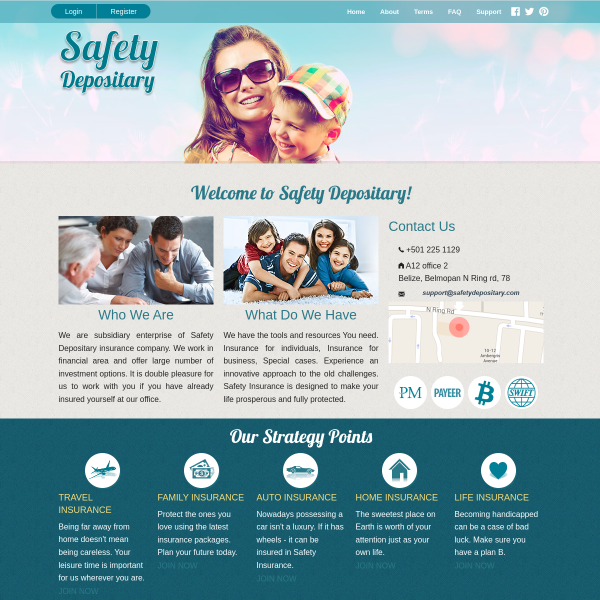 safetydepositary.net screen