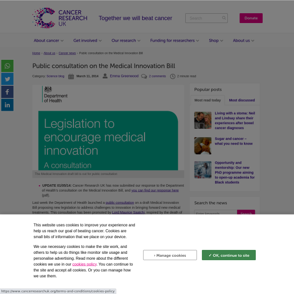Public consultation on the Medical Innovation Bill