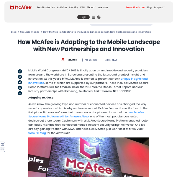 How McAfee is Adapting to the Mobile Landscape with New Partnerships and Innovation - McAfee Blogs