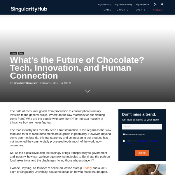 What's the Future of Chocolate? Tech, Innovation, and Human Connection