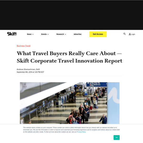 What Travel Buyers Really Care About — Skift Corporate Travel Innovation Report